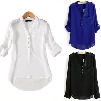 6493eae14e1 Women Casual Tops T-Shirt Loose Fashion Blouse Cotton Blous