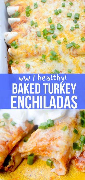 Healthy Baked Turkey Enchiladas