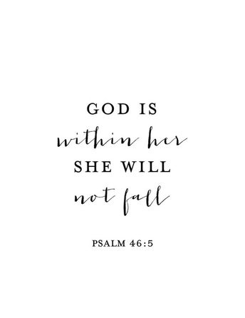 God is Within Her She Will Not Fall Print Psalm 46:5 Psalm | Etsy