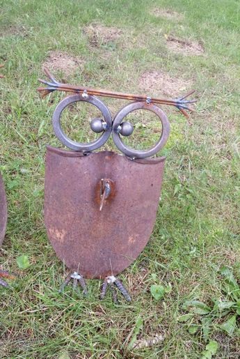 Recycled Shovel Owls. Shoves. Yard Art. Outdoor by TuckertownForge