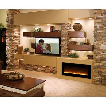 Solon Wall Mounted Electric Fireplace