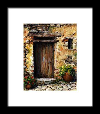 Mediterranean Portal Framed Print