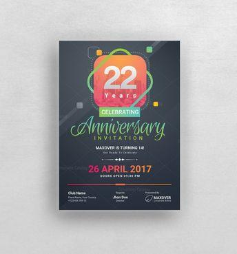 Ares Elegant Anniversary Invitation Template 001127 - Template Catalog