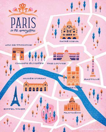 #Clairicegifford - PARIS MAP