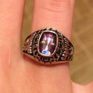 c5085cbee3f2a Personalized girls class ring from #Jostens Achiever Colle