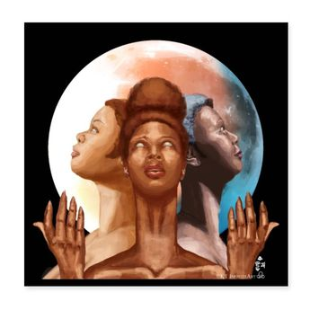 Triple Moon Goddess Eclipse | Poster 8x8
