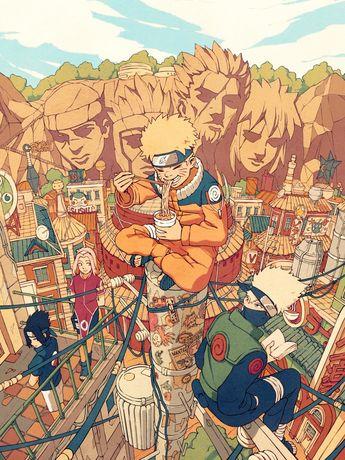 Sasuke Uchiha, Sakura Haruno, Naruto Uzumaki and Kakashi Hatake