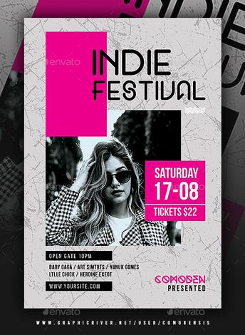 Indie Flyer Template PSD  #flyer #Indie #PSD #template