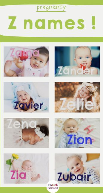 Baby names beginning with the letter 'Z'