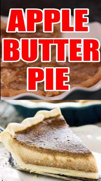 Homemade Apple Butter Pie