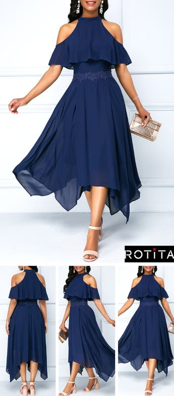 It's a common dilemma for a wedding guest to be unsure about what to wear! Today, I'm sharing my ideas of Wedding Guest Attire! Navy Blue Chiffon Dress is enough to make any girl's heart race with excitement!