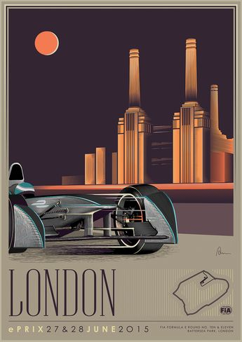 Formual E and the Return of the Art Deco Poster!