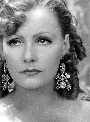 Greta Garbo, stunning hair, make-up and jewelry combination! - Margaret Raposa