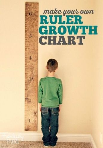 DIY Family Growth Chart Ruler