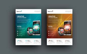 Electron Stylish Professional Corporate Flyer Template - Graphic Templates
