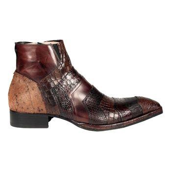 pretty nice 02fb5 e4ec0 jack jones jjalbany leather boot brown stone botas de ...