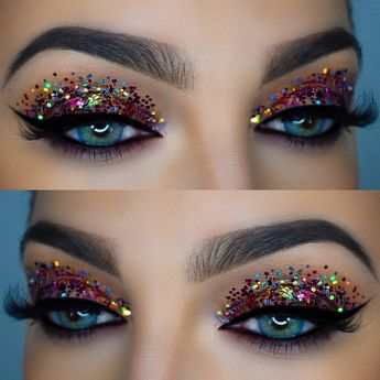 When in doubt, just add glitter! #pixelatedrainbow 🌈🎉 ... . . @anastasiabeverlyhills @norvina dipbrow and brow wiz in medium brown and…