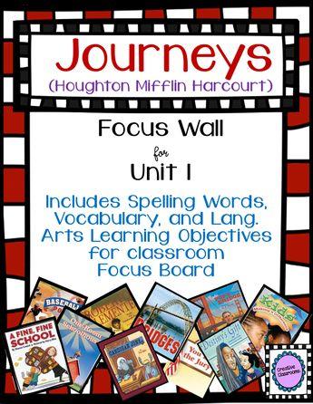 Journeys Third Grade QR Code Vocabulary Printables Unit 1