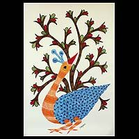 Gond painting, 'The Peacock Dance'