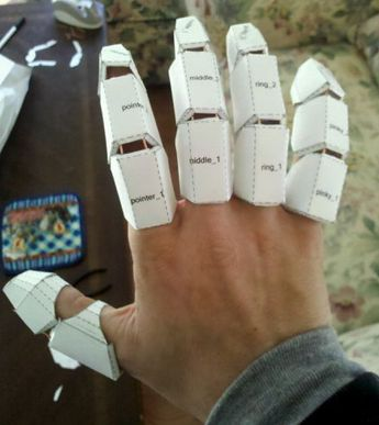 wired fingers #IronMan #costume #DIY
