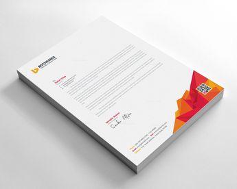 Education Letterhead Design Template - Graphic Templates