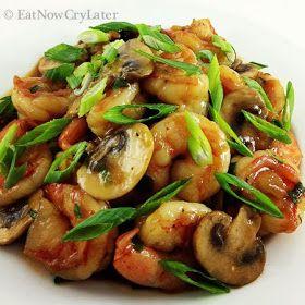 Eat Now Cry Later: Easy shrimp and mushroom stir fry