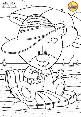 Cuties Coloring Pages for Kids - Free Preschool Printables - Slatkice Bojanke - Cute Animal Coloring Books by BonTon TV #coloringpages #coloringbooks #cuties #bojanke #bontontv