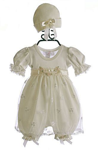 a5cb125603df Katie Rose Infant Bloomer Dress Ashley Cream  79.00
