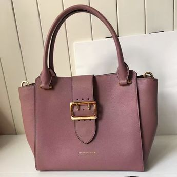 Burberry Medium Buckle Tote In Grainy Leather Pink 2016 79edde8d39799