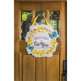 """Forsythia Home Door Decor - 20.75"""" x 20"""" - Evergreen"""