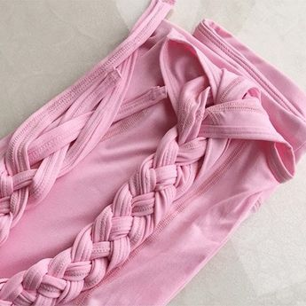 Ballet Yoga Pants (Black & Pink)