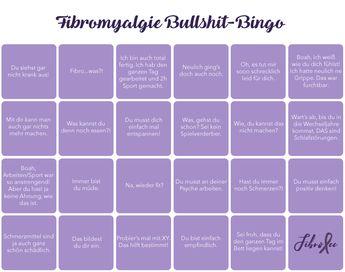 Fibromyalgie-Bullshit-Bingo - warum diese Sätze total daneben sind.