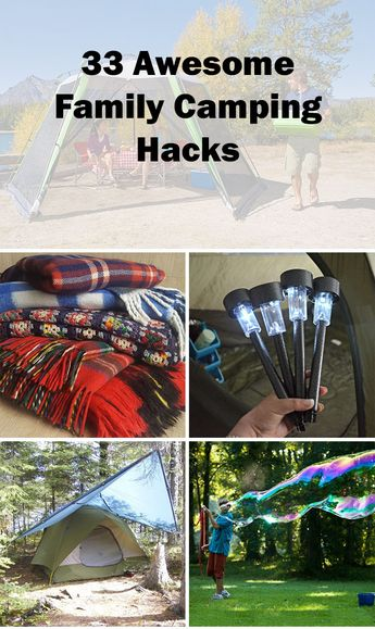 These family camping hacks are awesome and definitely make your life easier. Number 26 is my favorite. It's a great way to recycle and make something useful out of trash.