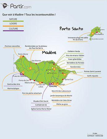 carte Madère où partir