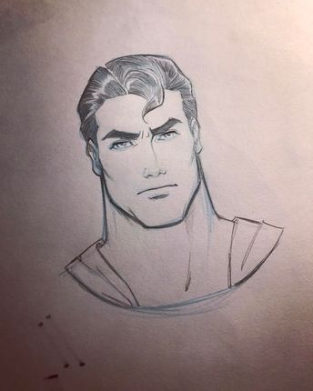 - Clark - • #pencil #drawing #superman #dc #comics #fabvalle #fabiovalle #sketch #art