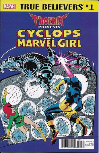 Details about Phoenix Cyclops Marvel Girl Comic Issue 1 Classic Reprint True Believers 2018