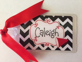 Personalized Cheer Bag Tags Gifts Megaphone Compeion Sqad Team Colors