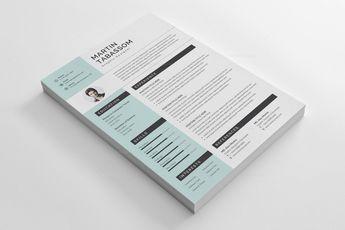 Modern CV Design Templates 002887 5