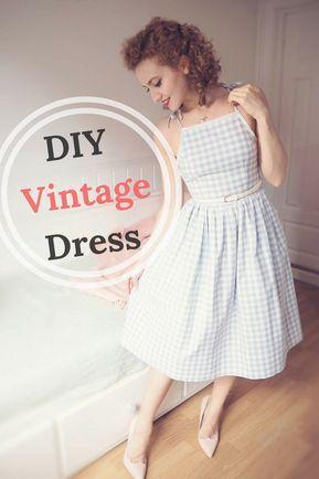 DIY Vintage Dress -