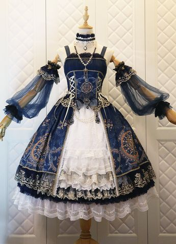 The Nine Songs -Crown of The Sea- Vintage Classic Lolita Jumper Dress