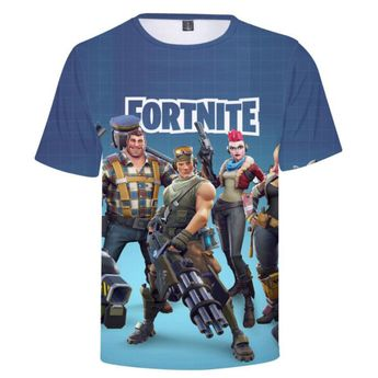 fbfef338 Fortnite 3D T-Shirt For Men Women Fortnite Battle Royale Short Sleeve T- Shirt