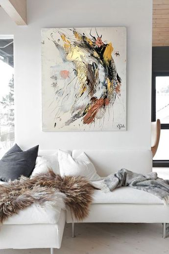 Abstract art, original and unique painting, art decor