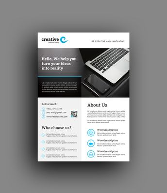 Monaco Modern Professional Business Flyer Template - Graphic Templates