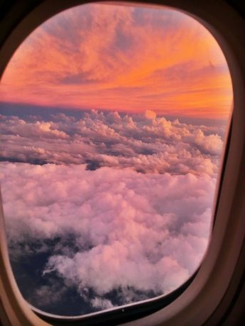 Airplane window seat view