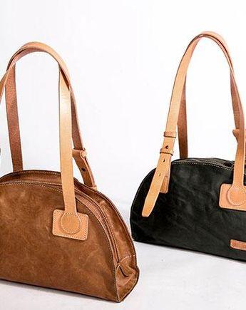 90d2764efcbe Genuine Leather Bag Semicircle Style Handmade Handbag Shoulder Bag Purse  For Women