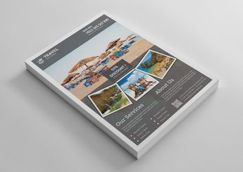 Stylish Travel Agency Flyer Template - Graphic Templates