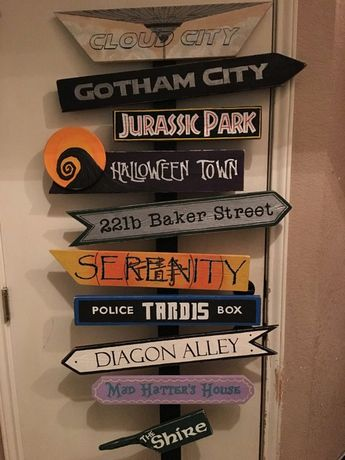 Fictional locations Sign