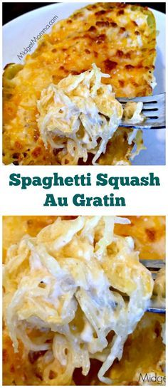 Spaghetti Squash Au Gratin. Easy to make meal that is filled with veggies. Spaghetti Squash Au Gratin is the perfect meal for anytime! Low carb!