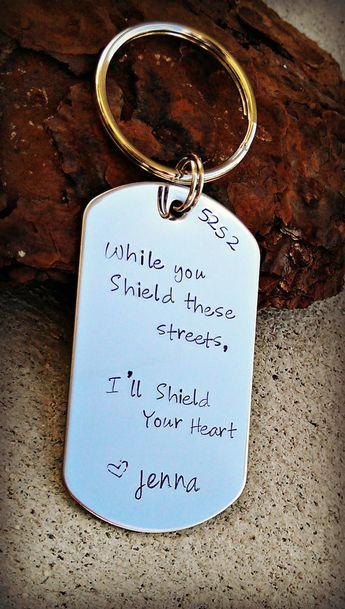 Police keychain, Police wife, Police officer gift, Police girlfriend, Sheriff keychain, Sheriff wife, Trooper Keychain, Sheriff gift