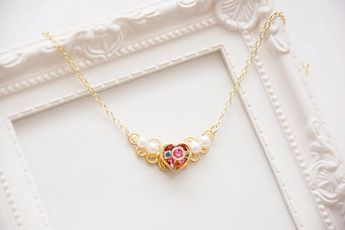 Sailor Moon Necklace Cosmic Love Heart (Made to order)